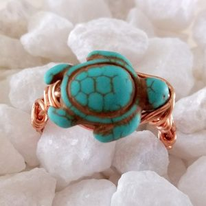 Wire Wrapped 🐢 StoneTurtle Ring